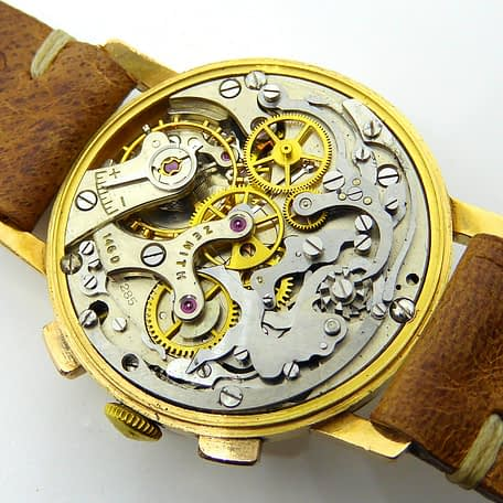 Zenith 18K Gold Chronograph Two Registers Cal. 146D