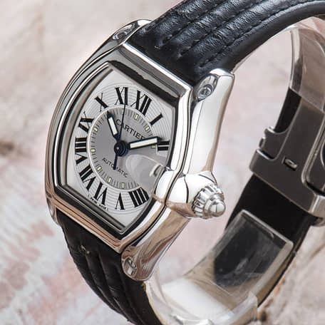 Cartier Roadster Automatic Black Leather Date Ref. 2510