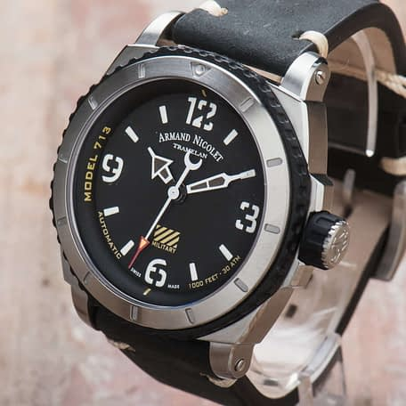 Armand Nicolet S05-3 Military Automatic Black Dial A713PGN-NR-PK4140NR