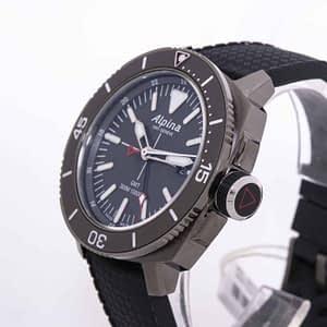 Alpina Seastrong Diver GMT Date Black Men's Quartz Watch Ref. AL-247LGG4TV6
