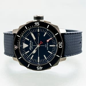 Alpina Seastrong Diver GMT Date Blue Quartz Men's Watch Ref. AL-247LNN4TV6