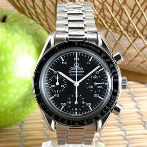 Omega Speedmaster Reduced 3510.50 Automatic Black Chronograph SS Circa 1993