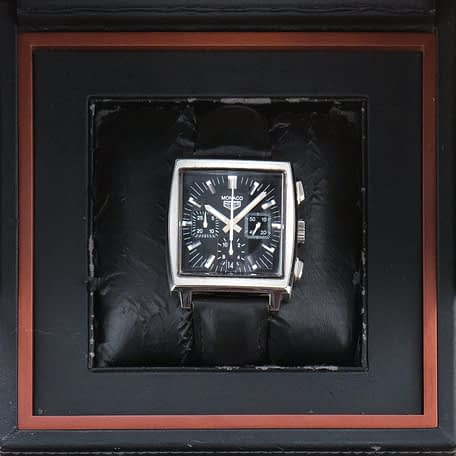 Tag Heuer Monaco Re-Edition Steve Mcqueen Chronograph Date Swiss ref. CS2111
