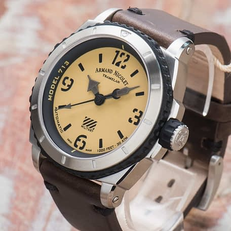 Armand Nicolet S05-3 Military Automatic Beige Dial A713PGN-KN-PK4140TM