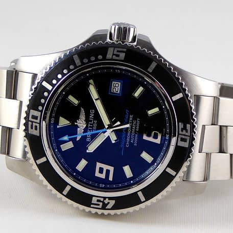 Breitling Superocean 44 Chronometer Automatic Black Stainless Steel Watch A17391