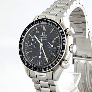 Omega Speedmaster Reduced Automatic Circa 1991 Black Chronograph SS 3510.50