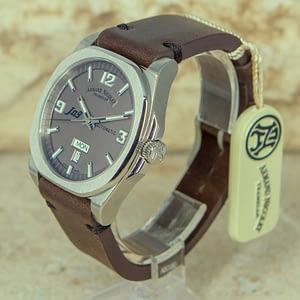 Armand Nicolet J09 Automatic Day Date Mens Watch 9650A-GR-PK2140TM Authorized Dealer
