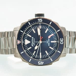 Alpina Seastrong Diver GMT Date Blue Men's Quartz Watch Ref. AL-247LNN4TV6B