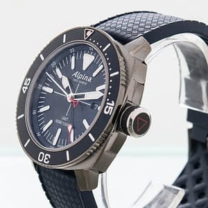 Alpina Seastrong Diver GMT Date Blue Quartz Men's Watch Ref. AL-247LNN4TV6