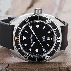 New Eterna Super KonTiki Automatic Rubber strap Watch Big 45mm 1273.41