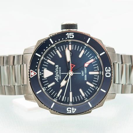 Alpina Seastrong Diver GMT Date Blue Men's Quartz Watch Ref. AL-247LNN4TV6B