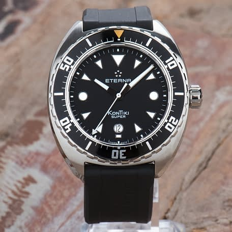 New Eterna Super KonTiki Automatic Rubber strap Watch Big 45mm 1273.41