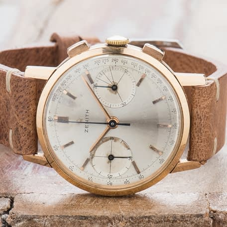 Zenith 18K Gold Chronograph Two Registers Cal. 146 D Watch Hand Winding 146D